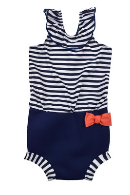 Happy Nappy Costume - Navy Stripes